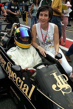 Vivianne Senna (BRA) sister of Ayrton Senna with Bruno Senna (BRA) nephew of Ayrton Senna as Bruno prepares to drive an ex-Ayrton Senna Lotus Renault 98T. Formula One World Championship, Rd18, Brazilian Grand Prix, Race Day, Interlagos, Brazil, 24 October 2004
