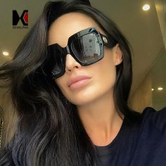 R  24.07 25% de desconto SHAUNA Colorido Efeito Pérola Quadro Mulheres Quadrados  Óculos De Sol de Marca Designer de Moda Popular Homens Gradient Lens Shades  ... cd0cb77cf5