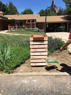 Cindy Guajardo Contemporary Mailbox Before Staining Large Mailbox, New Mailbox, Modern Mailbox, Contemporary Mailboxes, Red Bricks, Reno, Box Design, How To Be Outgoing