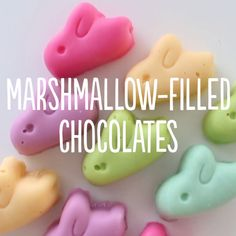 The perfect Easter treat! Homemade chocolates filled with a fluffy marshmallow filling!