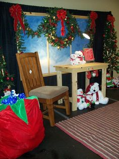 Thinking about creating a Santa's Workshop in the kids' area......