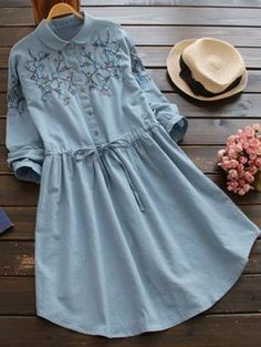 SHARE & Get it FREE | Flat Collar Embroidered DressFor Fashion Lovers only:80,000+ Items • New Arrivals Daily Join Zaful: Get YOUR $50 NOW!