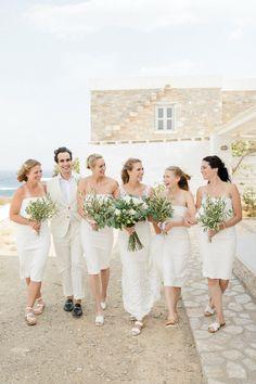 A true celebration of love on the off-the-beaten-track Folegandros Island Bridesmaid Dresses, Wedding Dresses, Celebrities, Fashion, Bridesmade Dresses, Bride Dresses, Moda, Bridal Gowns, Celebs