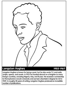 langston hughes coloring page