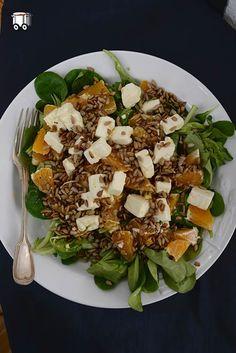 Roszponka z pomarańczą, fetą i słonecznikiem | Szybko Tanio Smacznie