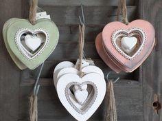 gekleurde hart hangers