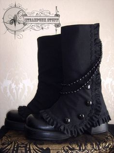 Really cute spats for a boot!