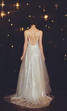 shimmering wedding dress