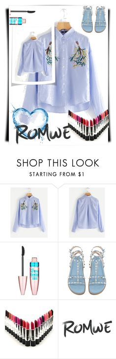 """""""#Romwe"""" by softic013 ❤ liked on Polyvore featuring Maybelline"""