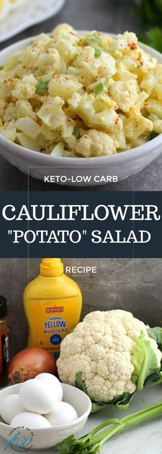 "You'll never miss the potatoes in this… Low-carb Keto Cauliflower ""Potato"" Salad. You'll never miss the potatoes in this… – essen – Low-Carb Blumenkohl PotaLowcarb Mexiko Salat mitKeto Griechischer Salat mit Gre Low Carb Keto, Low Carb Recipes, Diet Recipes, Cooking Recipes, Healthy Recipes, Healthy Dinners, Smoothie Recipes, Low Carb Summer Recipes, Shake Recipes"
