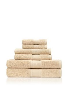 Terrisol 6-Piece MicroCotton Bath Towel Set (Linen)