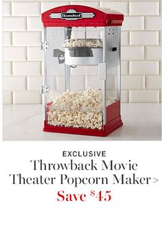 EXCLUSIVE - Throwback Movie Theater Popcorn Maker I Williams Sonoma