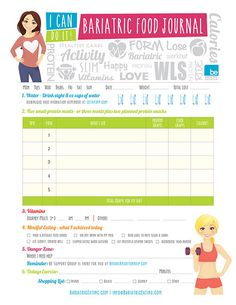 Thanks for Joining BE. Heres Your FREE Bariatric Food Journal File.