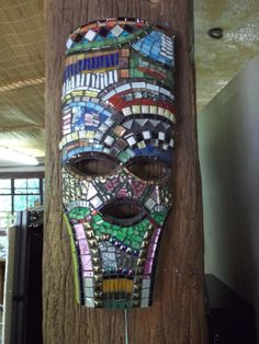 """Mosaic African Mask by Jenny B """"One of a Kind"""" - Sold"""