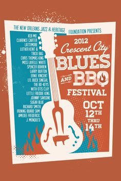 Crescent City Blues and BBQ Festival on Behance