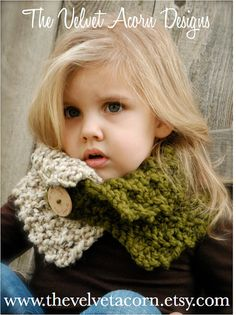 KNITTING PATTERN Venyce Cowl Toddler Child and by Thevelvetacorn, $5.50