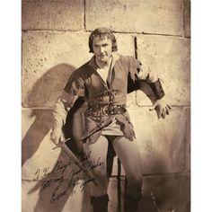 "Errol Flynn as ""Robin Hood"" oversize portrait signed"