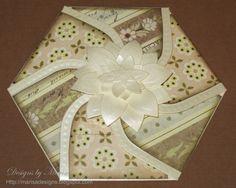 """""""Hexagon Petal Envelope"""" using Spellbinders die templates."""