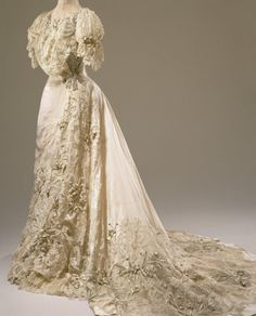 Fripperies and Fobs Wedding dress, 1905 From the Hillwood Museum