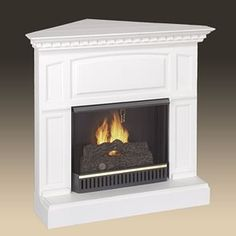 Dimplex Milan White Electric Fireplace Convertible Mantel Package ...