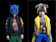 circus mag: Anne Kurris - Kid's Fashion from Belgium! Love the mask built into the hood!