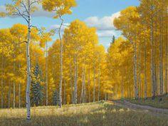 """""""Edge of the Meadow"""", Artist Doug Miller; Oil on Linen: Framed Dimensions: 47""""wide x 37""""high; Available at Filsinger Gallery, Palm Desert, CA.  www.filsingergallery.com"""