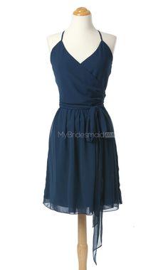 Dark Navy Short Bridesmaid Dress,Short Bridesmaid Dresses