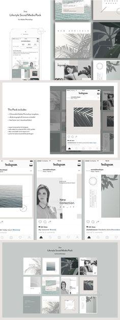 Social Media Kit 12 Square PSD templates for #Instagram by @Nonola #instagram #quote #socialmedia #socialmediakit #socialpack #template #socialmediatemplate