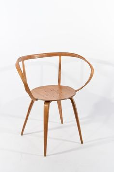 Dimensions: H x W x D Condition: presents nicely, repair to one front leg, secured with two screws throug. on Jan 2016 George Nelson, Wishbone Chair, Pretzel, Accent Chairs, Auction, Jan 17, Mid Century, January, Furniture