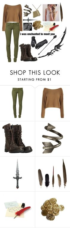 """Who said Peter Pan only has Lost Boys? I live among them, and I am a girl! Lost Girl, that's what they call me"" by mattiebrogan ❤ liked on Polyvore featuring Mavi, AllSaints and Mineheart"