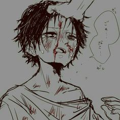 pixiv is an illustration community service where you can post and enjoy creative work. A large variety of work is uploaded, and user-organized contests are frequently held as well. Anime Oc, Sad Anime, Anime Depression, Sick Boy, Sad Art, Angel Of Death, Anime Characters, Creepy, Horror