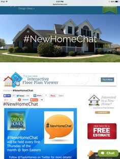 #NewHomeChat happens the first Thursday of the month at 9pm Eastern. Want to join but aren't sure how? Tweet us at @TaylorHomes and we'll help you out! Tuesday, November 4th, please join us on Twitter for #NewHomeChat at 9pm Eastern. Our guest is Hoover. We are proud that each and every one of our homes comes standard with this high-quality, beautiful, durable product for the kitchen and bath.