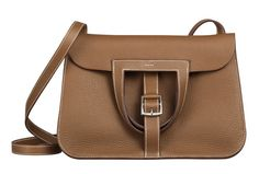Hermès Halzan Bag ... can be worn four ways–as a shoulder bag, a crossbody, a north-south tote or a clutch.