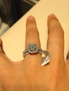 2 kt total weight- center round diamond w halo. Bridal set! On sale at Zales outlet :)