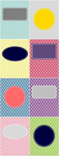 printable binder covers – resize for journaling cards.