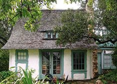 Obers was Hugh Comstock's own home, made of adobe brick, local stone and hand-carved trim.  Located in Carmel-by-the-sea where Comstock built several small Storybook homes in the 1920s.