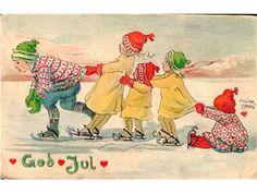 GOD JUL sign Adina Sand. Skrivet 1917. Ok skick!!! på Tradera.com -