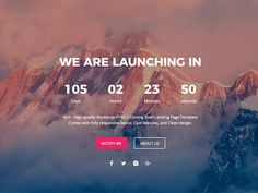Bolt - Free Coming Soon and Under Construction Template by UIdeck Countdown Clock, Countdown Timer, Website Coming Soon, Coming Soon Page, Page Template, Website Template, Templates, Store Design, Web Design