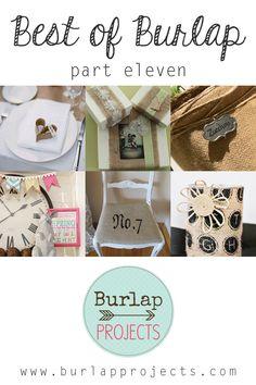 Best of Burlap DIY Projects Part Eleven #BurlapDIY, #BurlapCrafts, #BurlapHomeDecorDIY