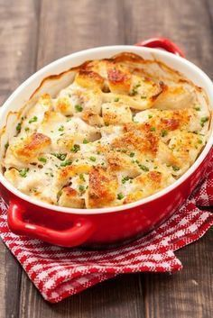 Drink Recipes 89546 Original recipe of gratin with fish and potatoes recipe recipe fast Healthy Dinner Recipes, Snack Recipes, Cooking Recipes, Drink Recipes, Salmon Recipes, Seafood Recipes, Super Dieta, Fish Casserole, Lobster Casserole Recipe