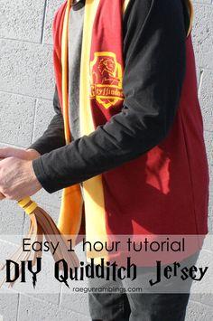 Harry Potter Quidditch Jersey Tutorial - Rae Gun Ramblings