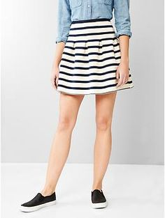 Stripe flared skirt | Gap