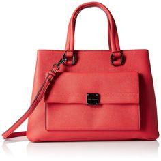 A|X Armani Exchange Saffiano Satchel, Absolute Red