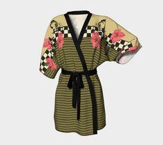 "Kimono+Robe+""Poinsettia""+by+Aquamarine+Studio"