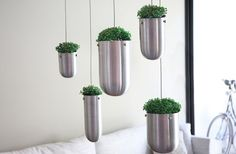 Stylish floating Garden by Gabriella Asztalos Hanging Planters And Container Garden Ideas For Indoors