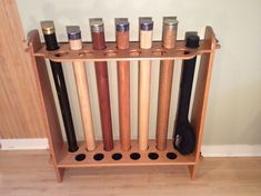 Fly Rod Tube Storage Rack 13 position by SaltCreekStudio on Etsy