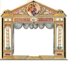 """""""The adventures of Alice in Wonderland"""" new paper theatre project, for sure a few hours of work, about 8 for it, what will be the result..This is the Proscenium"""