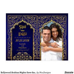 Bollywood Arabian Nights Save the Date Postcard - gold wedding gifts customize marriage diy unique golden Glitter Wedding, Gold Wedding, Glitter Gifts, Gold Glitter, Arabian Nights Theme, Unique Wedding Gifts, Save The Date Postcards, White Elephant Gifts, Picture Photo