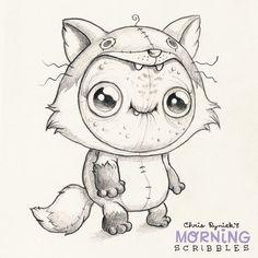 Fox pajamas! #morningscribbles