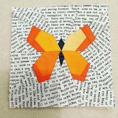 Butterfly quilt block, free pattern